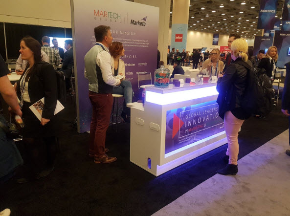 "The International ""Jetlag Lounge"" hosted by Martech Global at the Marketo Marketing Nation Summit in San Francisco"